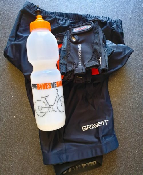 shebikes starter pack shorts bottle gloves